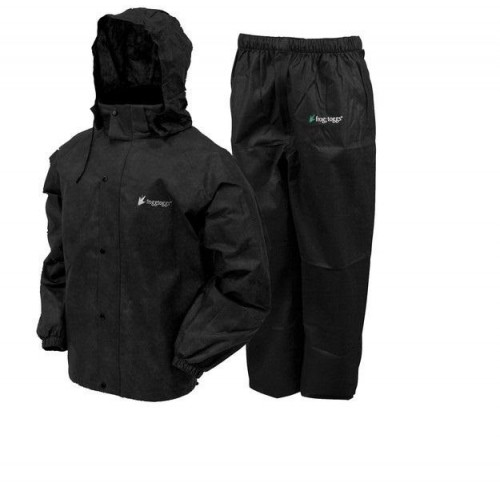 Frogg Toggs All Sport Rain Suit Black Size Large