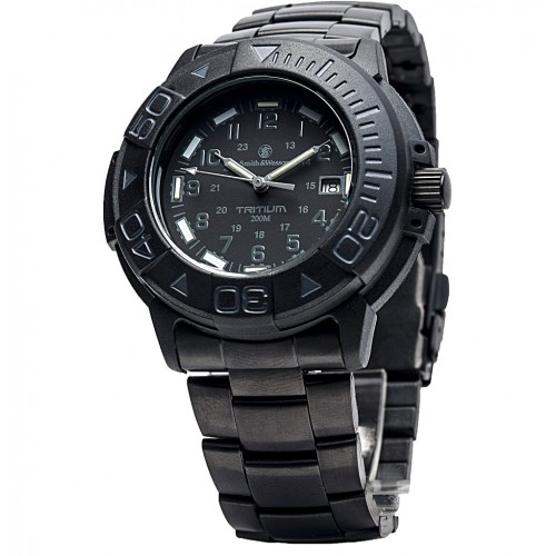 Diver Black With Tritium, Metal And Rubber Strap T-Usa