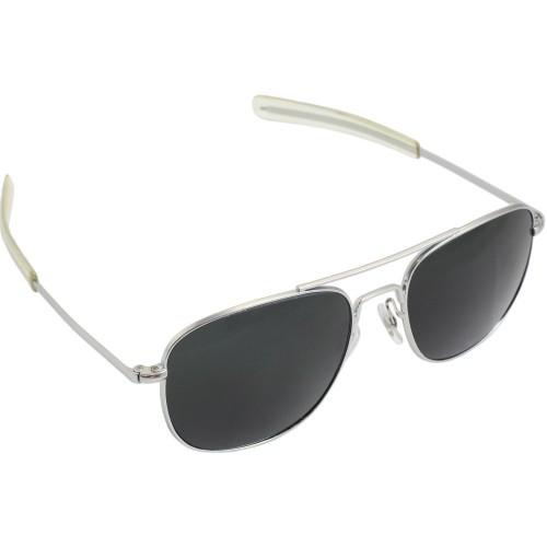 Pilot Sunglasses - 57mm, Chrome Frame