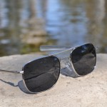 Pilot Sunglasses - 57mm, Chrome Frame