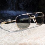 Pilot Sunglasses - 57mm, Gold Frame
