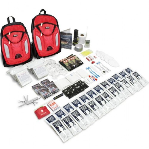 The Essentials Complete 72-Hour Kit - 2 Person: Black or Red Backpack