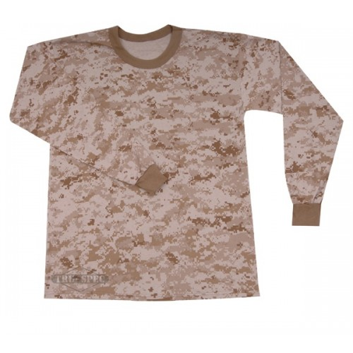 TRU-SPEC Long Sleeve camouflage T-Shirt - Desert Digital