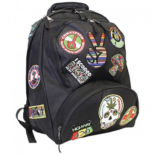 """17""""Hippie Backpack W/15patches"""
