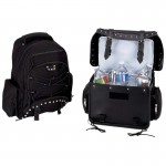 Diamond Plate Heavy-Duty PVC Motorcycle Cooler Bag And Backpack