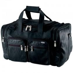 """Embassy 19"""" Italian Stone Design Genuine Buffalo Leather Tote Bag"""