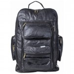 Embassy Italian Stone Design Genuine Leather Trolley/Backpack