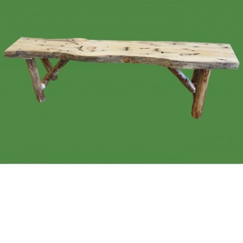 Northern Rustic Pine Log Bench