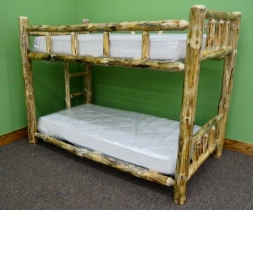 Northern Rustic Pine Log Bunk Bed