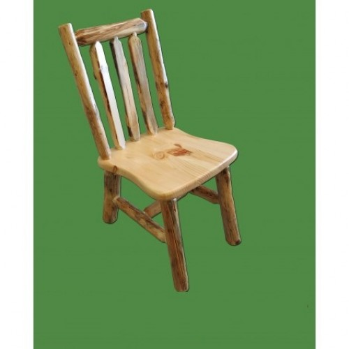 Northern Rustic Pine Log Chair