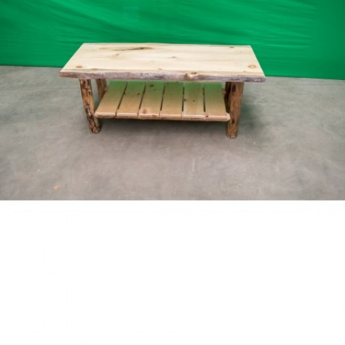 Northern Rustic Pine Log Coffee Table