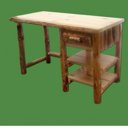 Northern Rustic Pine Log Desk