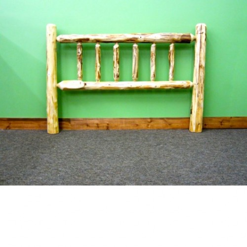 Northern Rustic Pine Log Headboard