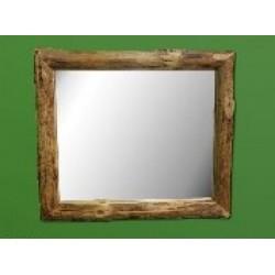 Northern Rustic Pine Log Mirror 42x36 in