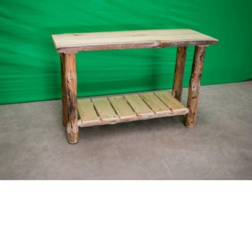 Northern Rustic Pine Log Sofa Table