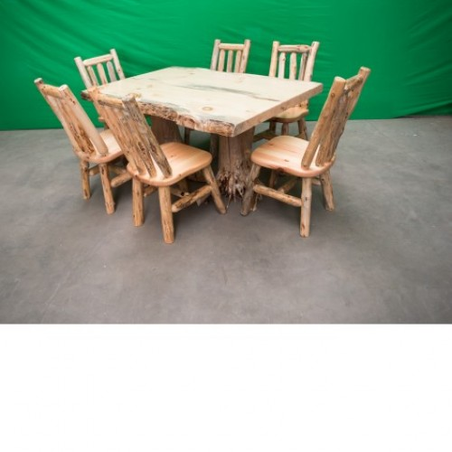 Northern Rustic Pine Log Stump Kitchen/Dining Table