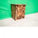 Northern Torched Cedar 2 Drawer Log Nightstand