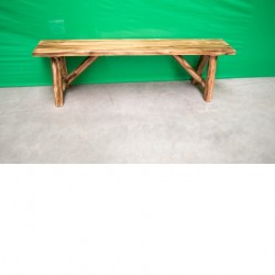 Northern Torched Cedar Log Bench