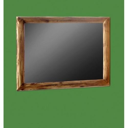 Northern Torched Cedar Log Mirror 35x29 in